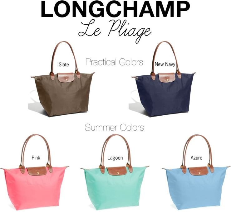 Longchamp Bag Le Pliage Colours : The blush blonde le pliage plunge