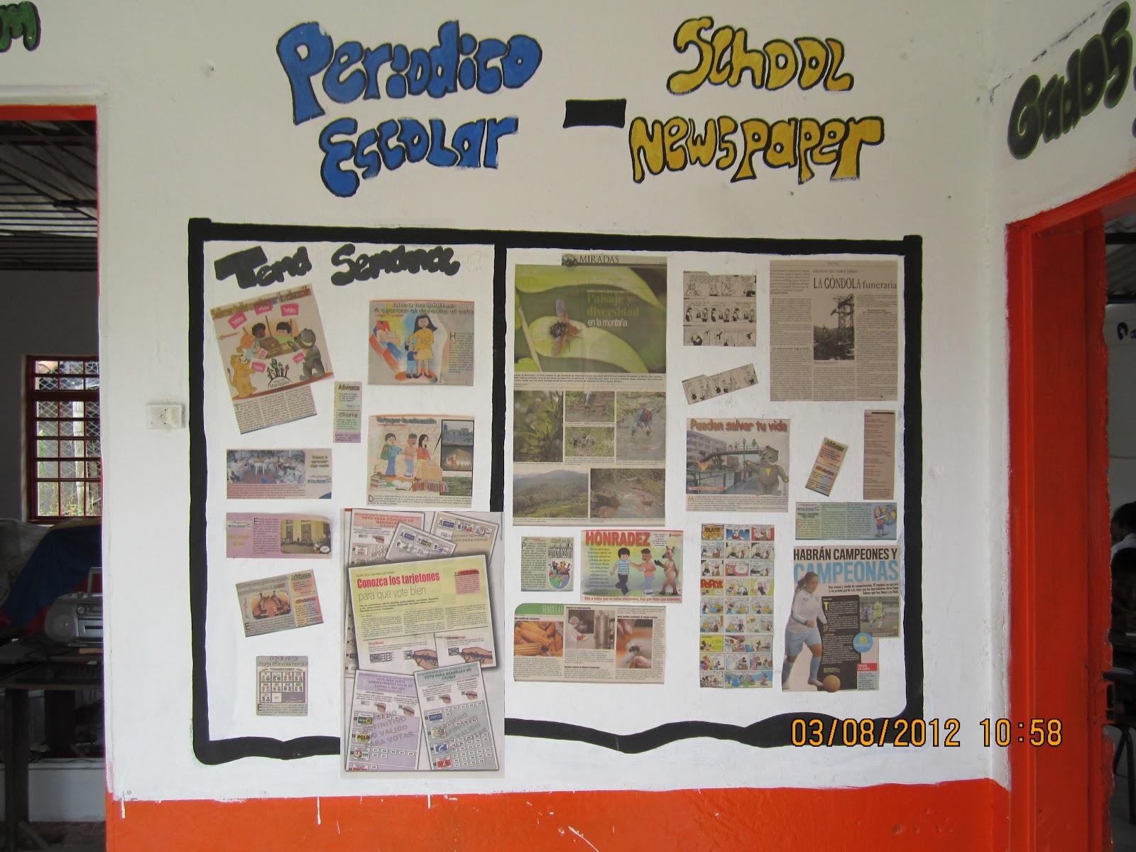 Sede educativa el vaticano periodico mural for El periodico mural y sus secciones