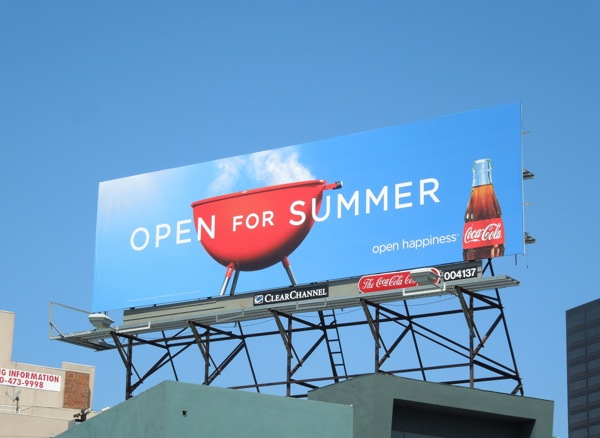 Coke Open for Summer BBQ billboard