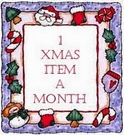 1 Christmas Item a Month