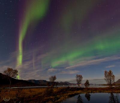 Auroras en Sortland, Noruega, durante las primeras horas del 27 de septiembre