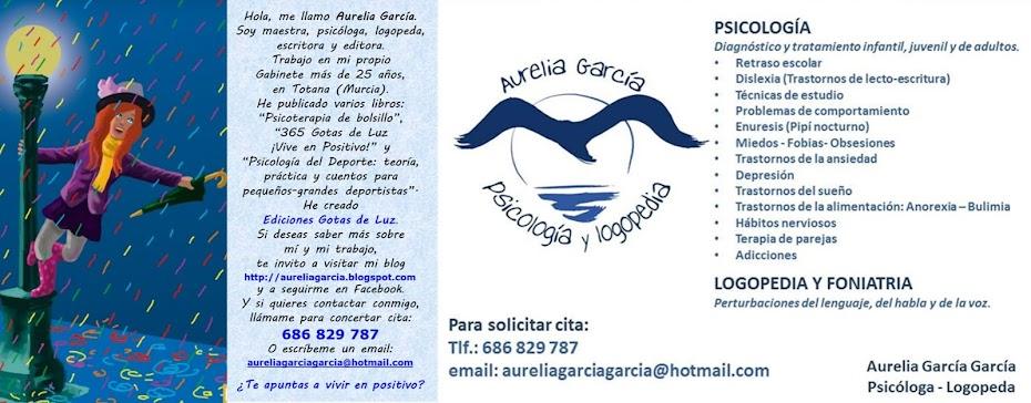 AURELIA GARCÍA: Psicóloga, escritora y editora.