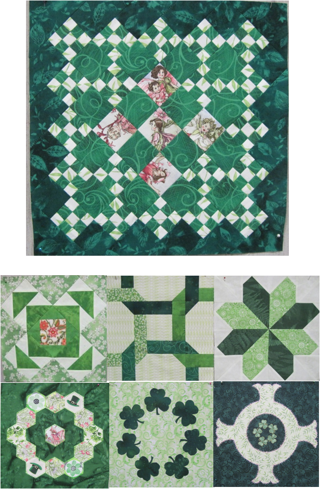 Quilt Inspiration: Free patterns: St. Patrick s Day