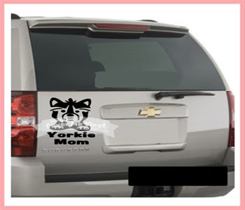 Yorkie Mom Car Decal