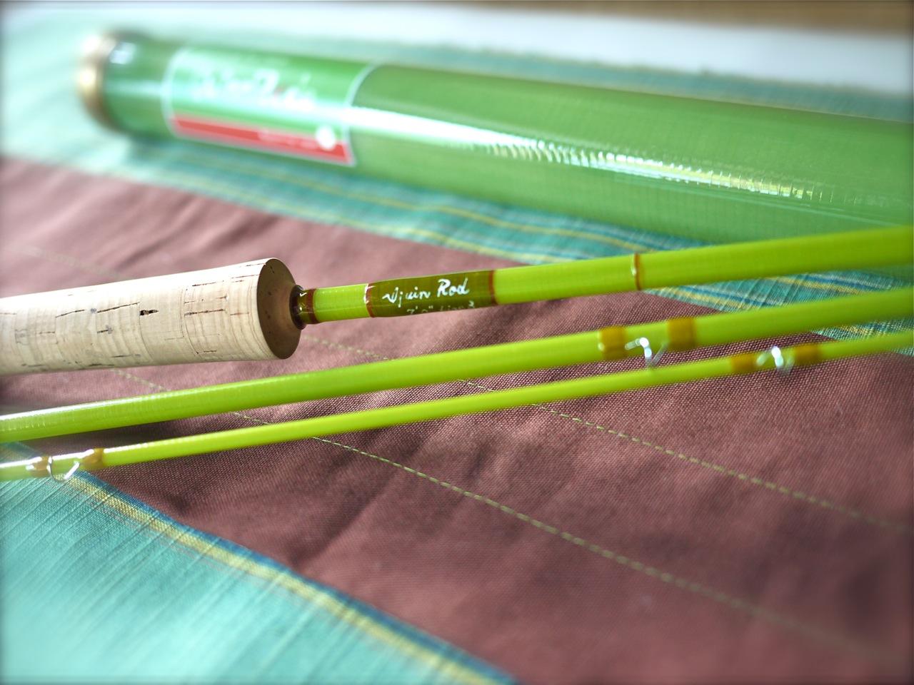 The fiberglass manifesto ijuin rod yomogi fly rod series for Fiberglass fishing rods
