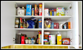 In a tiny kitchen, only store what you need for the week in your pantry, plus a few staples.