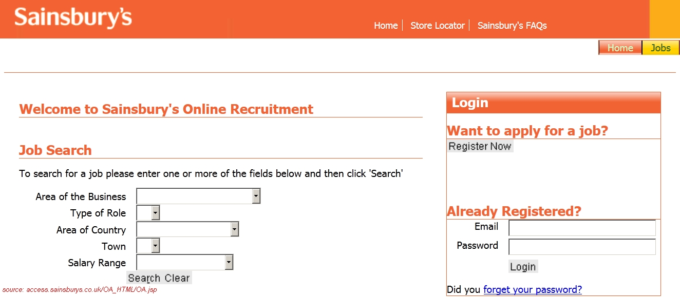 jobs applications forms