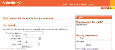 Sainsbury's job application form online