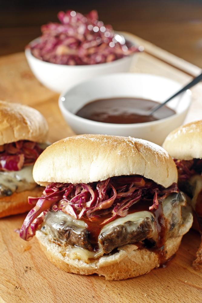 BBQ Portobello Mushroom Sandwich + Smoked Gouda