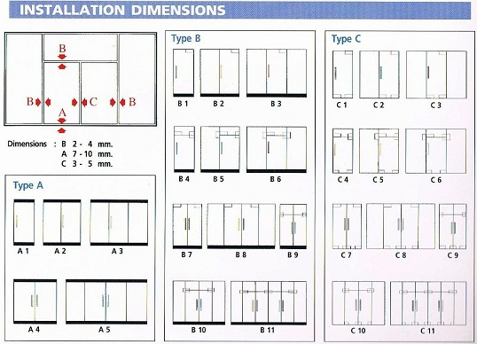 The composition of a tempered glass door details of glass door tempered glass door installation dimension diagram planetlyrics Image collections