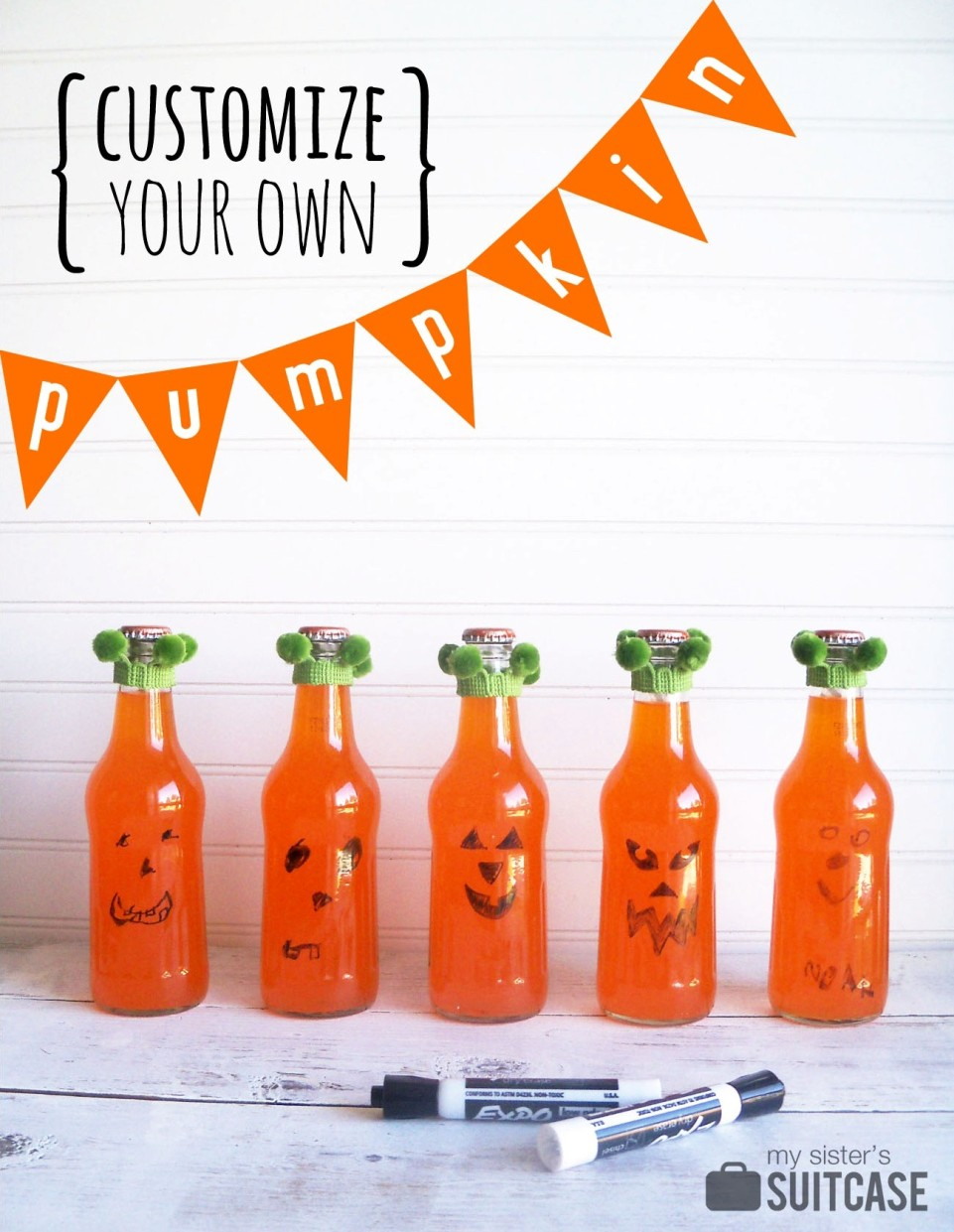 makeaface pumpkin halloween party favors