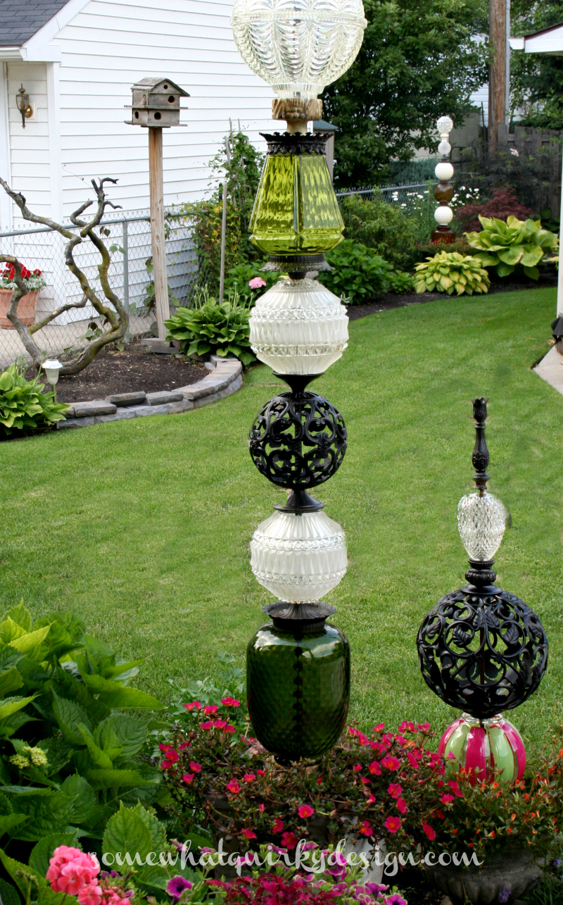 Somewhat Quirky How To Build A Glass Globe Totem