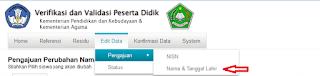 Trik Mengajukan Perubahan Data Siswa Pada Verval PD