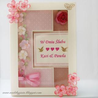 kartki okolicznościowe, kartka na wesele, kartka ślubna, kartka typu swing