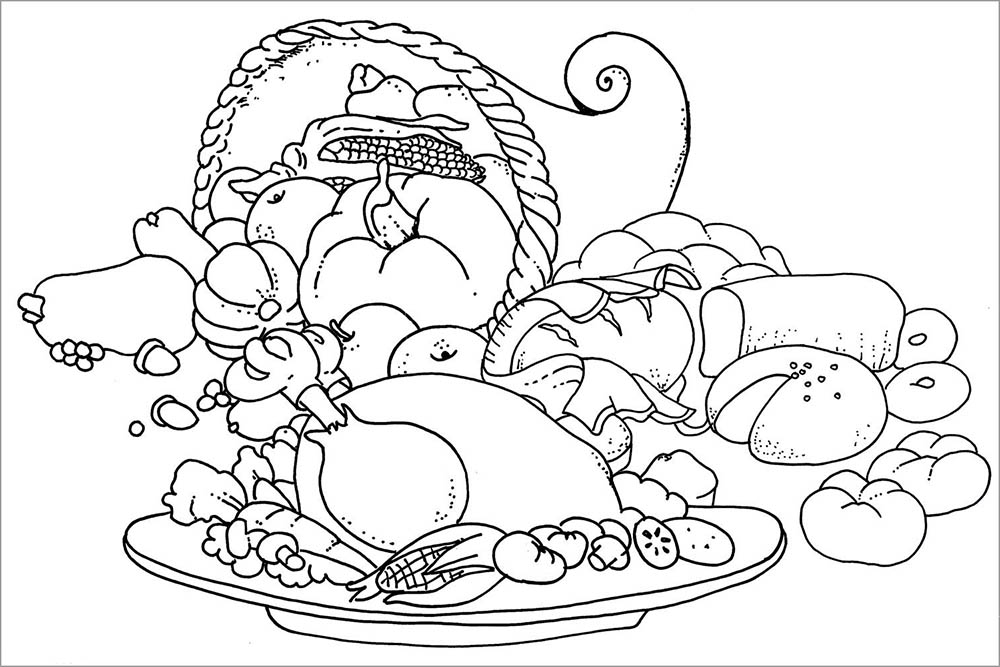 Source Printable Food Coloring Page