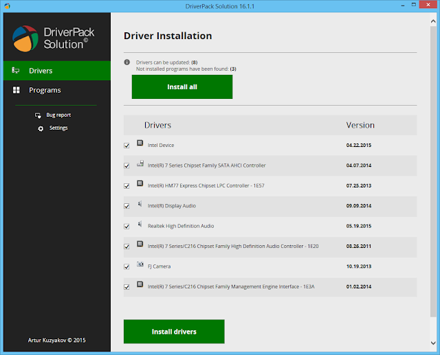 Detectare si instalare drivere sistem folosind DriverPack Solution