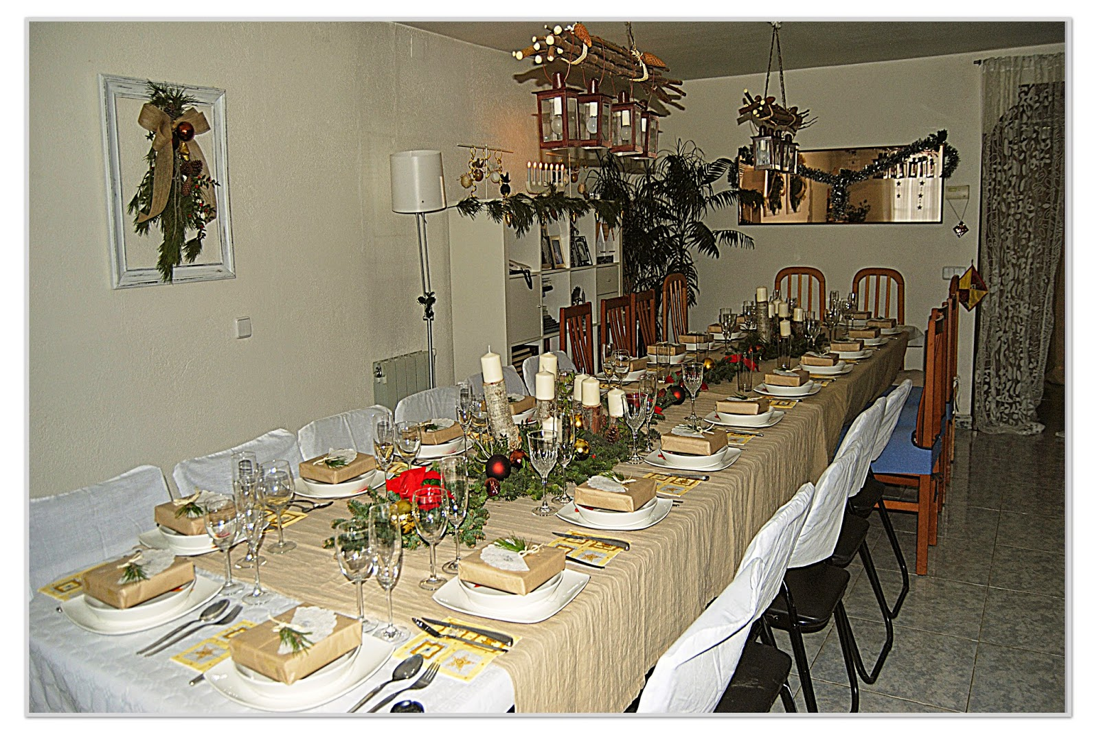 Las manualidades de sharon decoraci n de mesa navide a - Decoracion de mesa navidena ...