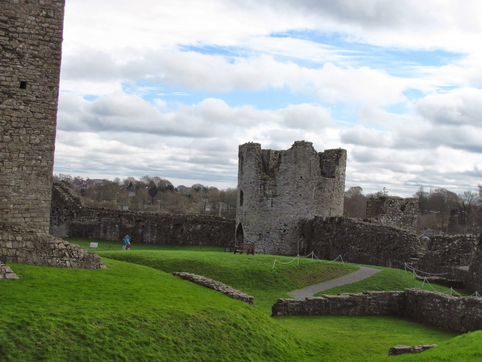 The famous Barbican Gate at Trim Castle in Trim, Ireland