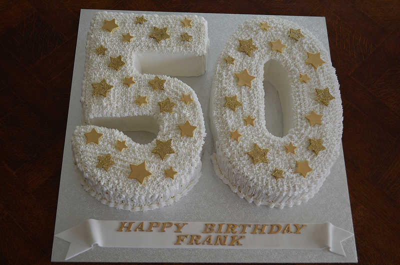 Birthday Cake Images Gold : Birthday Cake: 50th Birthday Cake