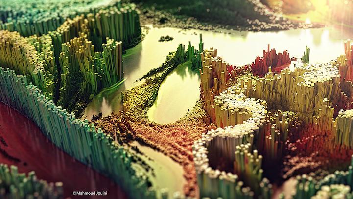A arte digital 3D de Mahmoud Jouini