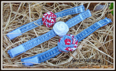 Upcycled Blue Jeans into Bracelets