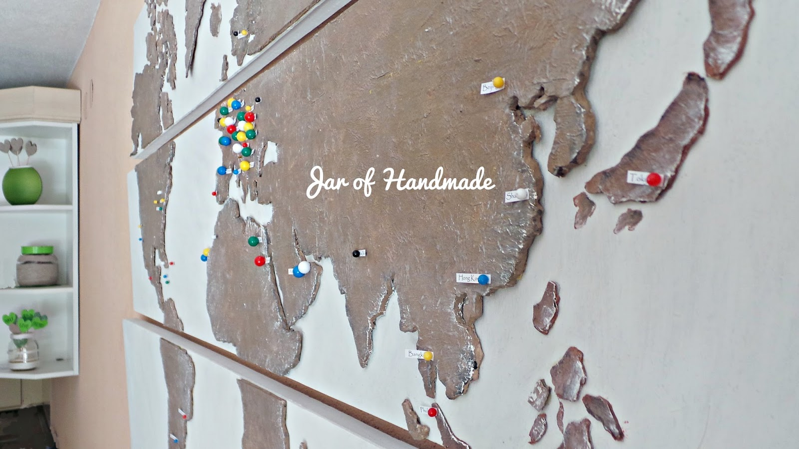 Jar Of Handmade DIY Personalized World Map For All Travel Lovers – Map World Jar