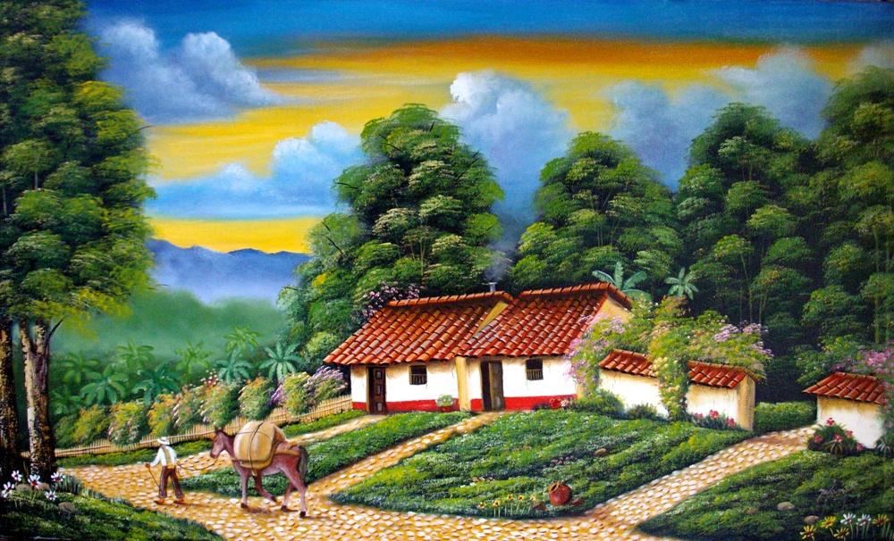 Cuadros modernos pinturas y dibujos paisajes colombianos for Pintor y muralista colombiano