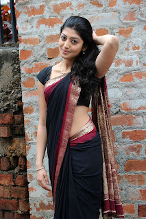 Praneetha Saree In Side Pose Stils