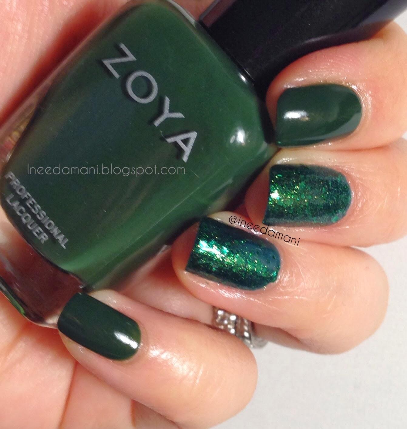 st patricks day green nails
