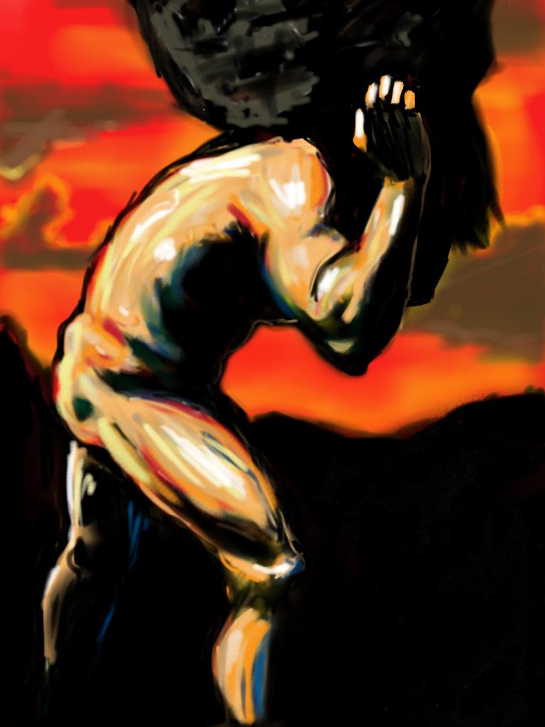 Myth of Sisyphus Art Greek Myth of Sisyphus