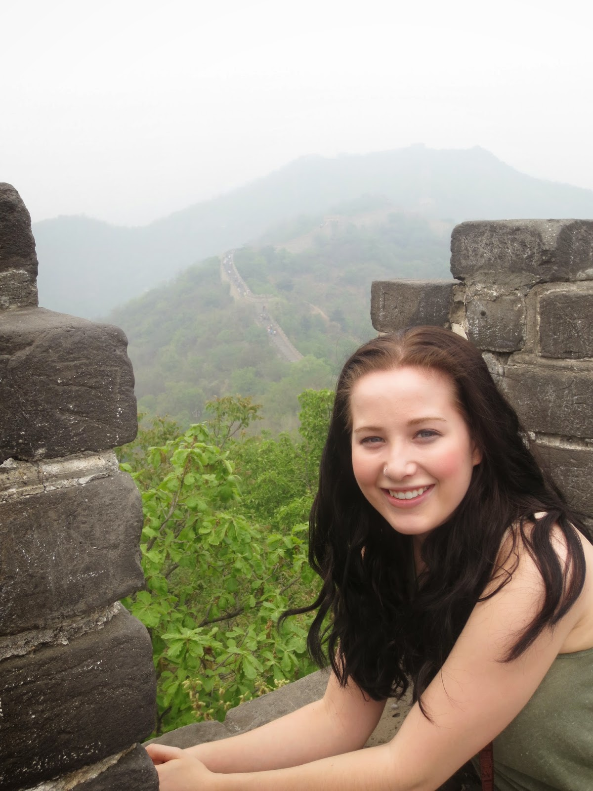 Laura at Mutianyu Great Wall
