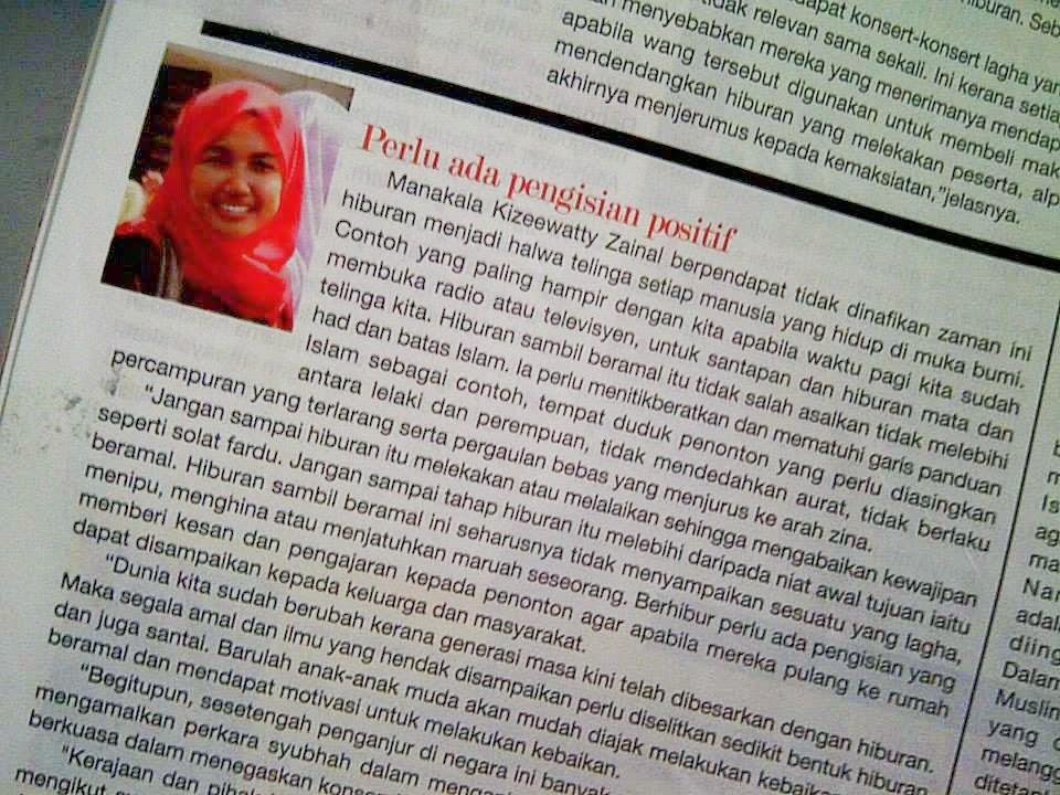 Artikel Di Mingguan Wanita