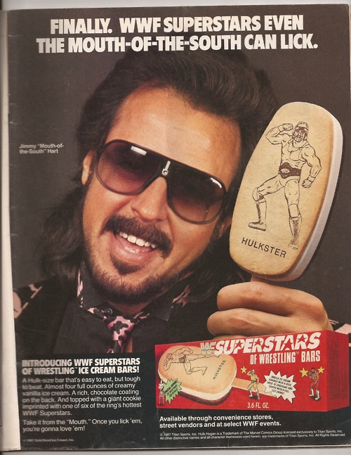 Who wants WWF ice-cream bars? Jimmy Hart does! The Mouth of the South