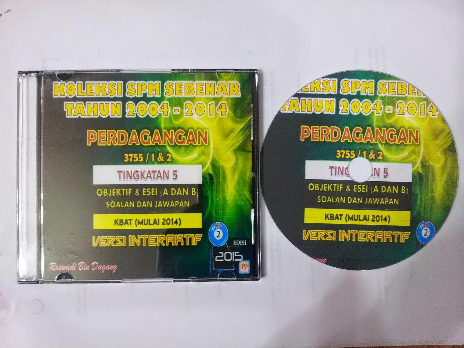 3 CD INTERAKTIF KOLEKSI SPM SEBENAR TAHUN 2004 -2014