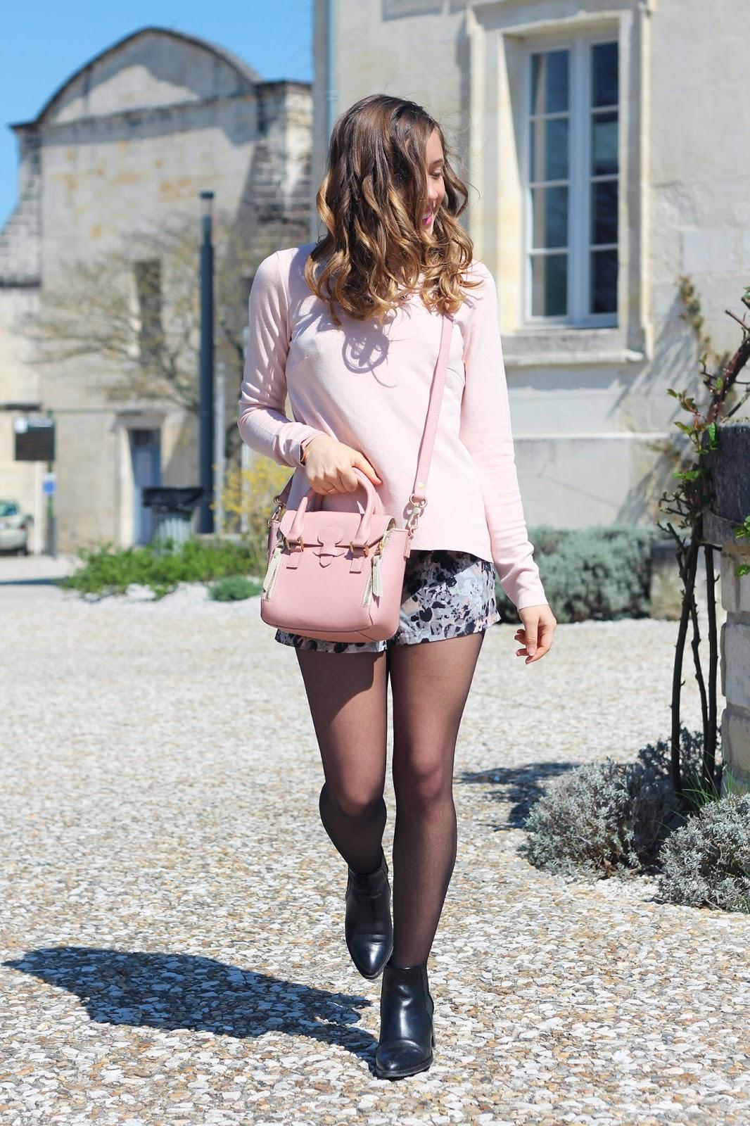 Tenue mode rose pastel printemps