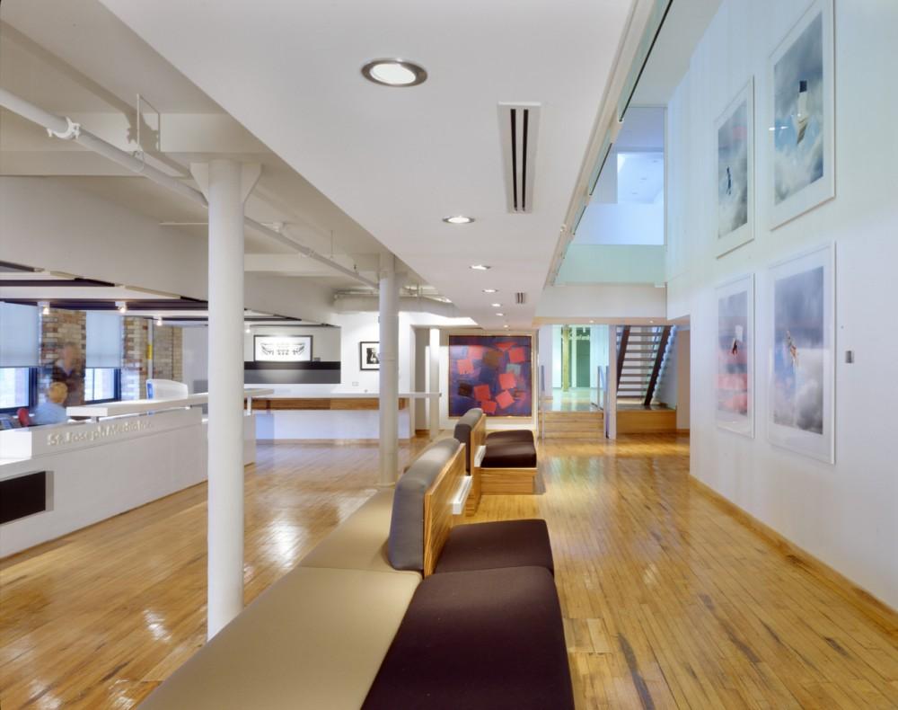 St joseph s media company office design toronto canada for Most beautiful office design
