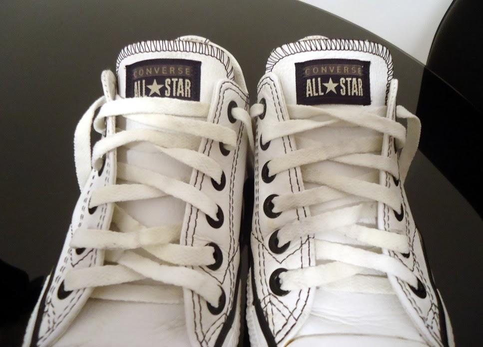 b1b29cdbec4 All Star Couro Branco Original 36