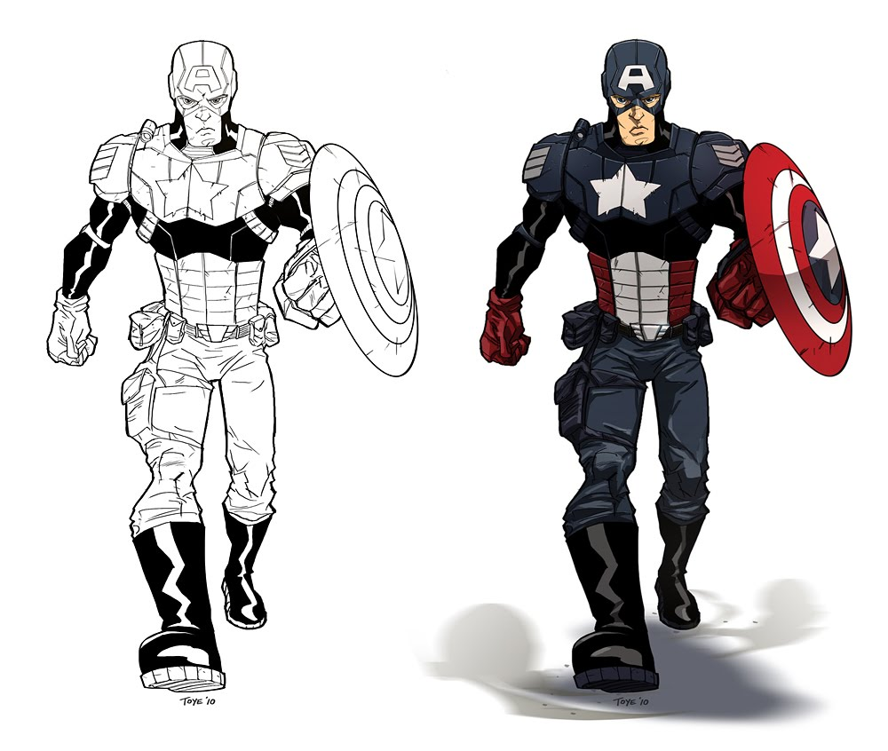 Free Love Quotes Captain America Coloring Pages