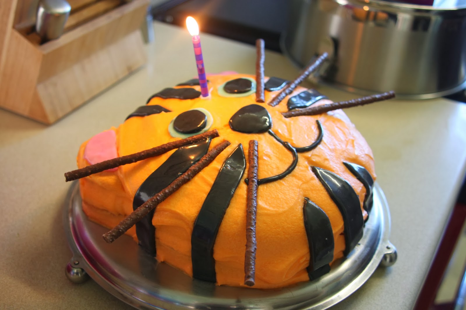 Tadpegs: A Tiger Birthday Cake for a First Birthday