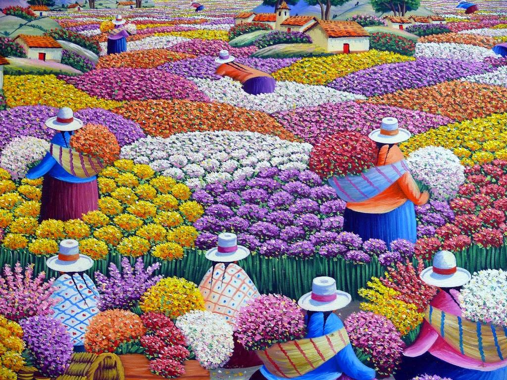 Pintura moderna y fotograf a art stica cuadros peruanos indigenas modernos - Nombres de colores de pinturas ...