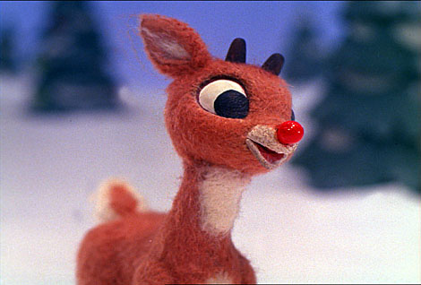 rudolph the red nosed reindeer is a reindeer with a glowing red nose ...