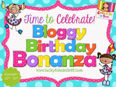 http://www.luckytobeinfirst.com/2014/02/its-bloggy-birthday-bonanza.html