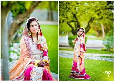 Latest Bridal Mehndi Dresses 2014