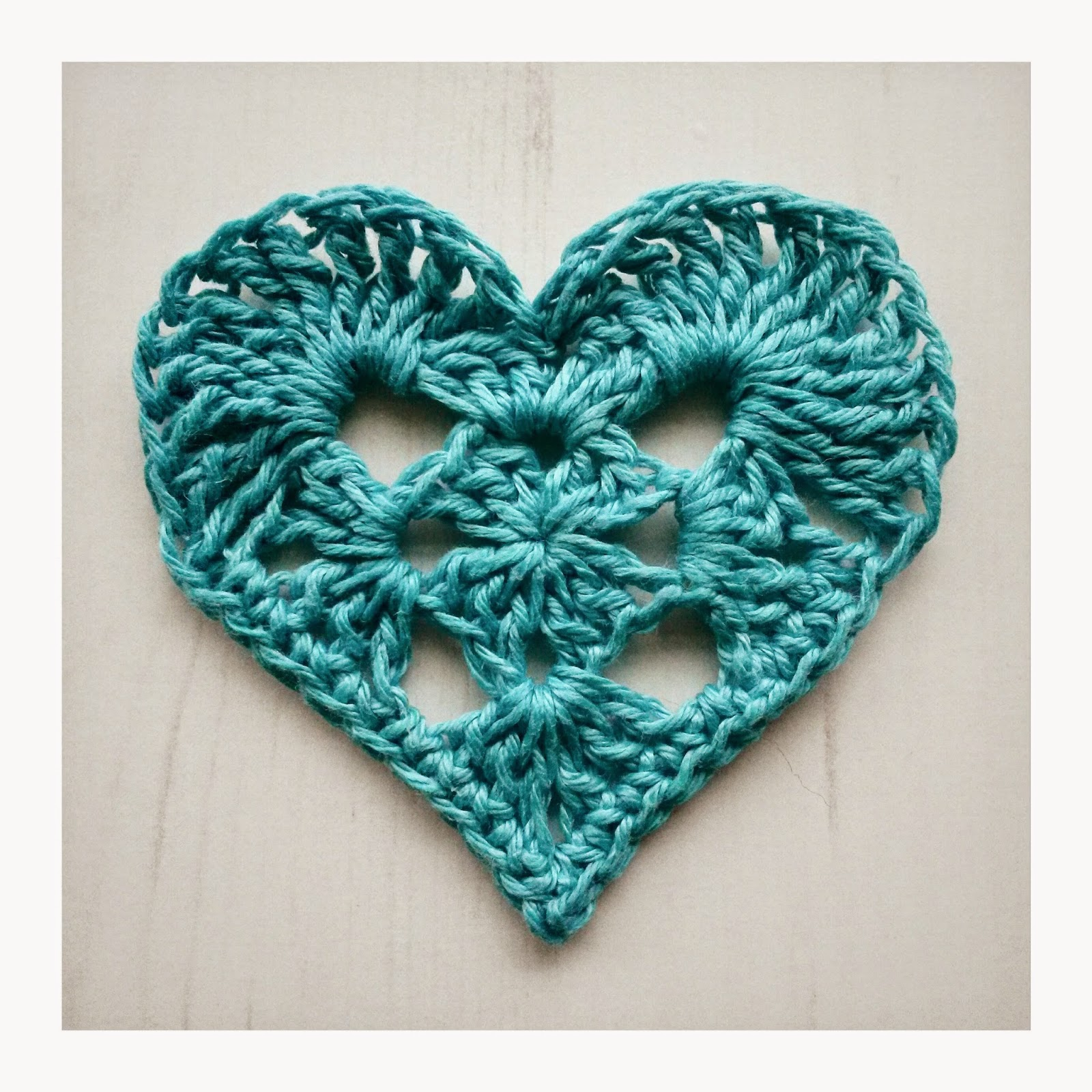 Crochet Tea Party: Granny Heart for Valentines Day