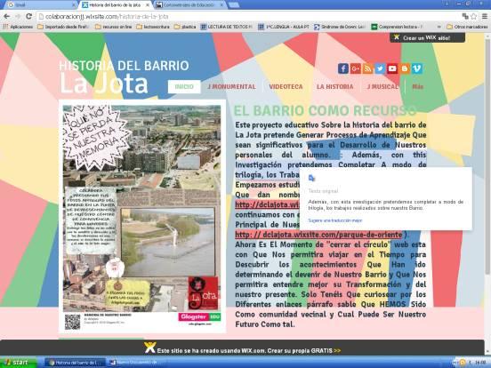 CONOCE LA HISTORIA DE NUESTRO BARRIO