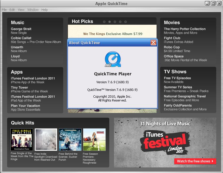 QuickTime Player 7798095 Download for Windows