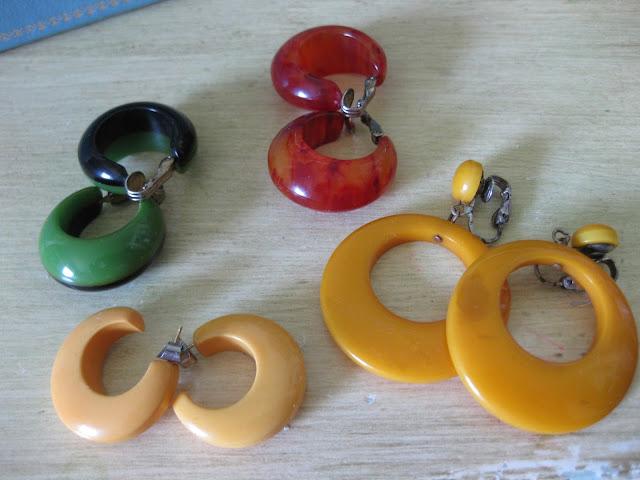 bakelite earring hoops