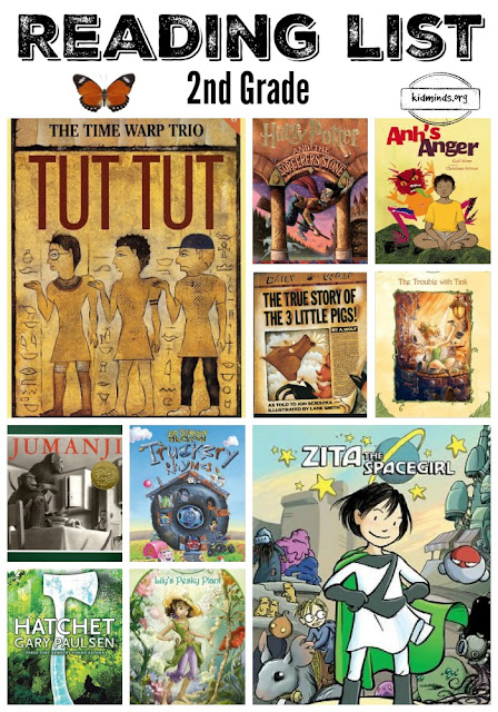 What to read in Second Grade, Second Grade Bookshelf