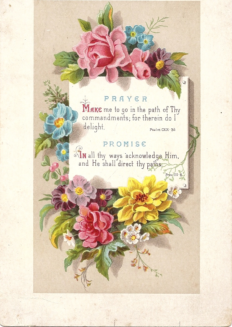 Sweet Magnolias Farm Free Printable Antique Floral Prayer And Promise Card