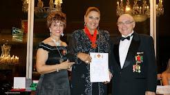 PAULA BARROZO - Premiada pela CONBLA - Comenda Medalha Leão de Judá e o título de Comendadora